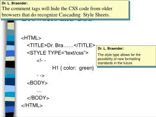 Browsers and CSS