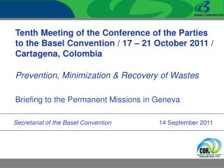 Briefing to the Permanent Missions in Geneva