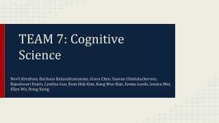 TEAM 7: Cognitive Science