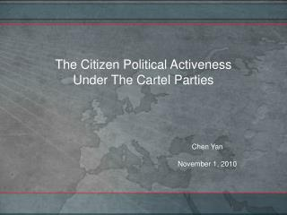 The Citizen Political Activeness  Under The Cartel Parties