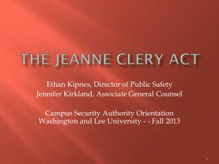 The Jeanne  Clery  Act
