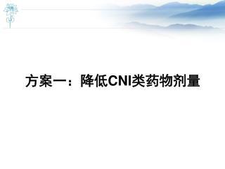方案一:降低 CNI 类药物剂量