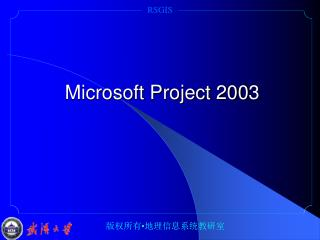 Microsoft Project 200 3