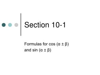 Section 10-1