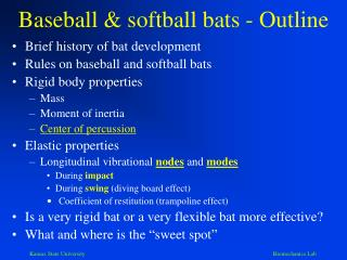 Baseball & softball bats - Outline