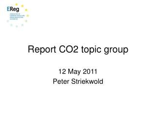 Report CO2 topic group