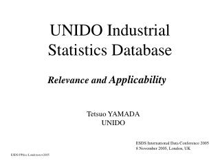 UNIDO Industrial Statistics Database
