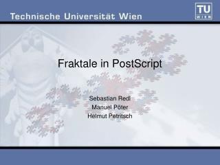 Fraktale in PostScript