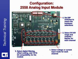 Configuration: 2558 Analog Input Module