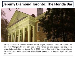 Jeremy Diamond Toronto: The Florida Bar