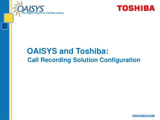 OAISYS and Toshiba: