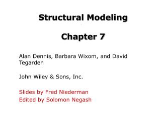 Structural Modeling Chapter 7