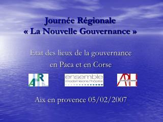 Journée Régionale  «La Nouvelle Gouvernance»