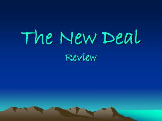 The New Deal Review
