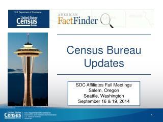 Census Bureau Updates