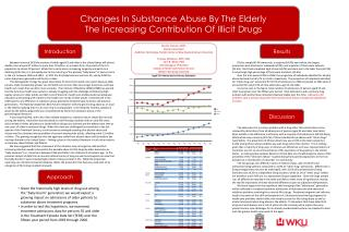 Changes In Substance Abuse By The Elderly  The Increasing Contribution Of Illicit Drugs