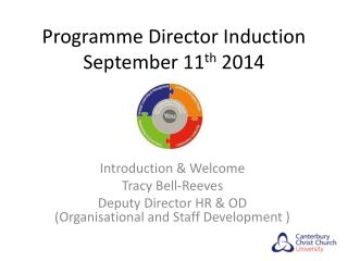 Programme Director Induction September 11 th  2014