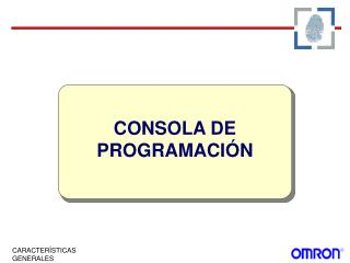 CONSOLA DE PROGRAMACIÓN