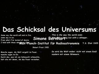 Das Schicksal des Universums