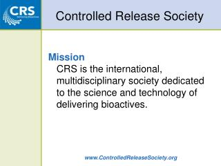 Controlled Release Society