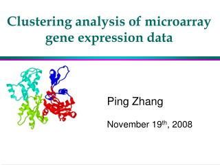 Clustering analysis of microarray gene expression data