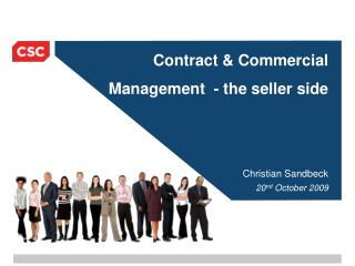 Contract & Commercial  Management  - the seller side