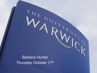 Barbara Hunter Wednesday November 2nd