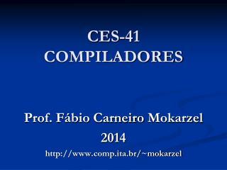 CES-41 COMPILADORES