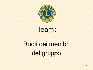 Team: