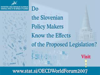 Statistics, Knowledge and Policy Chain-tax reform in Slovenia