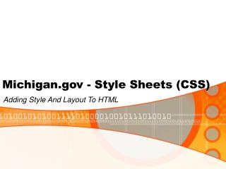 Michigan - Style Sheets (CSS)