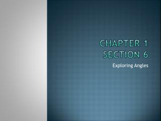 Chapter 1 Section 6