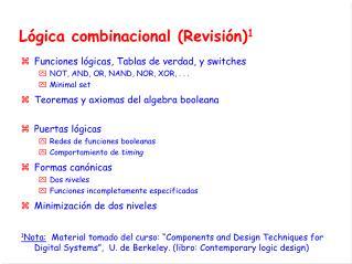 Lógica  combinacional  (Revisión) 1