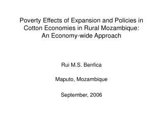 Rui M.S. Benfica Maputo, Mozambique September, 2006