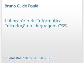Laboratório de Informática Introdução à Linguagem CSS