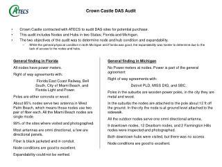 Crown Castle DAS Audit