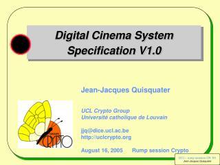 Digital Cinema System Specification V1.0