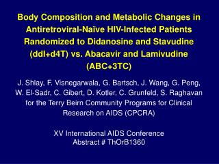 XV International AIDS Conference Abstract # ThOrB1360