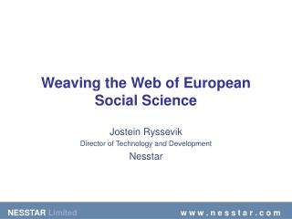 Weaving the Web of European Social Science