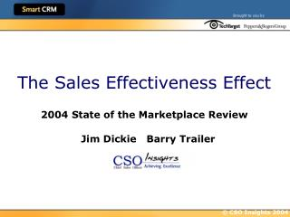 The Sales Effectiveness Effect