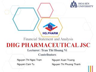Lecturer: Tran  Thi  Hoang Vi Contributors