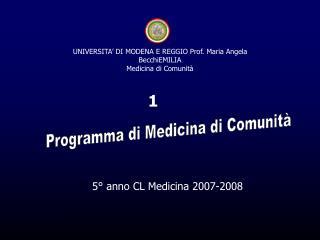 5° anno CL Medicina 2007-2008