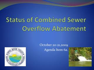 Status of Combined Sewer Overflow Abatement