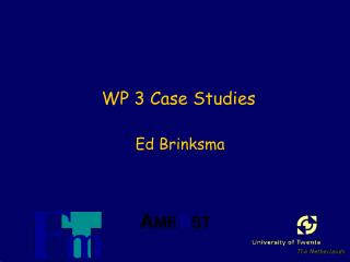 WP 3 Case Studies