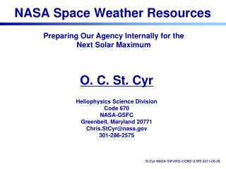 NASA Space Weather Resources