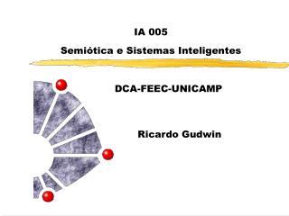 IA 005 Semiótica e Sistemas Inteligentes