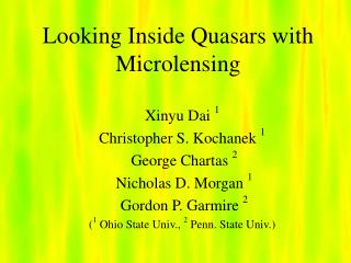 Looking Inside Quasars with Microlensing