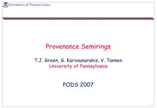 Provenance Semirings