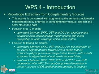 W P 5.4  -  Introduction