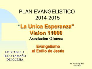 Ptr. Tito Montejo Hdez Evangelista